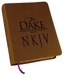NKJV Dake Bible: Brown Leathersoft Cover