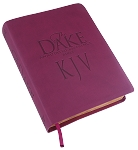 KJV Dake Bible (8.5 font, Burgundy LeatherSoft)