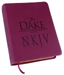 NKJV Dake Bible: Burgundy Leathersoft Cover